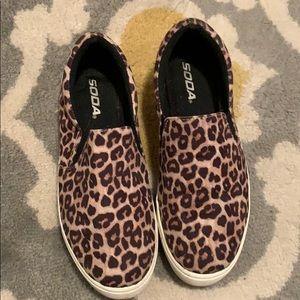 Soda animal print slip on sneakers 6